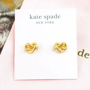 06f0d67e2 kate spade Jewelry | Loves Me Knot Hoop Stud Earrings Gold | Poshmark
